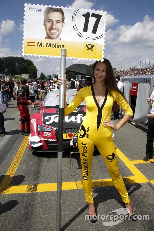 La grid girl di Miguel Molina, Audi Sport Team Abt Sportsline, Audi RS 5 DTM