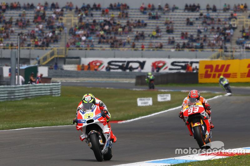 Andrea Iannone, Ducati Team y Marc áarquez, Repsol Honda Team