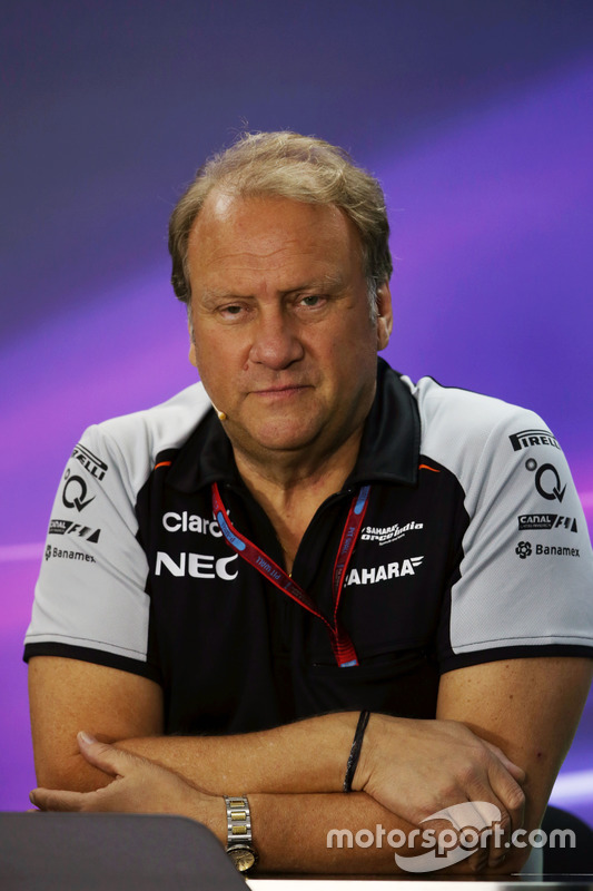 Robert Fernley, Sahara Force India F1 teambaas in de FIA persconferentie