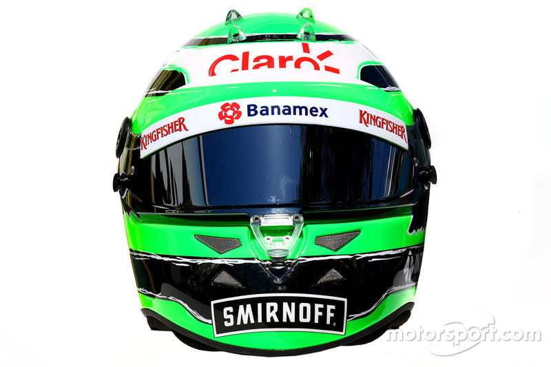 El casco de Nico Hülkenberg, Sahara Force India F1