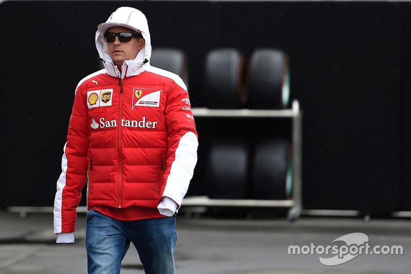 Kimi Raikkonen, Ferrari in the Paddock