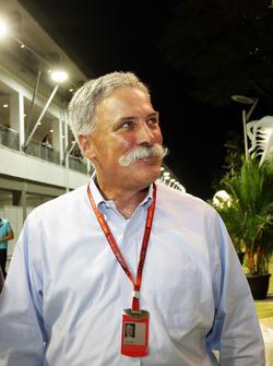 تشايس كاري، رئيس مجلس إدارة مجموعة الفورمولا واحد