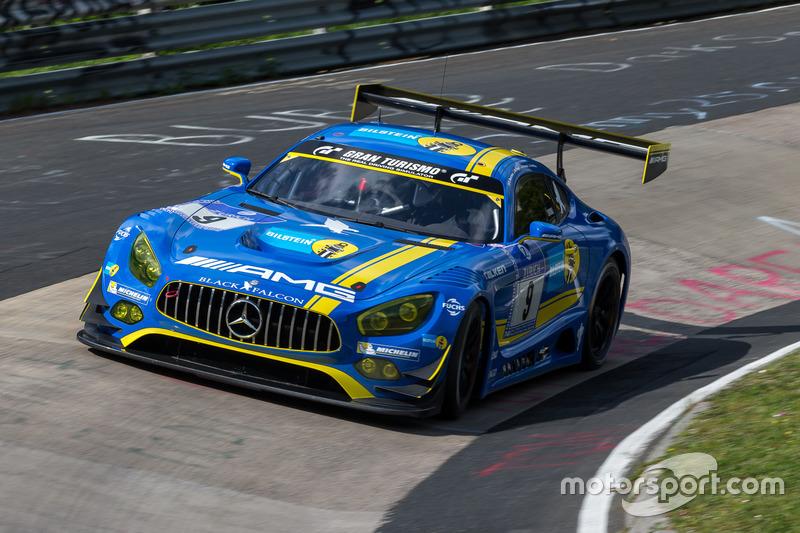 #9 AMG-Team Black Falcon, Mercedes-AMG GT3: Hubert Haupt, Yelmer Buurman, Maro Engel, Dirk Müller