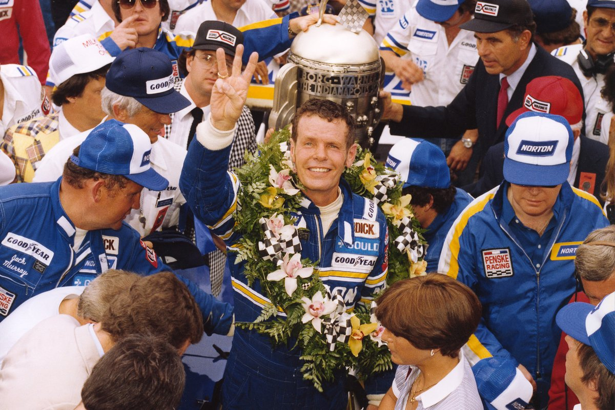 1981 Indy 500 and Bobby Unser celebrates what will prove to be his final Indy car triumph.