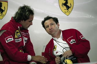 Gerhard Berger, Ferrari ve Jean Todt, Ferrari garajında