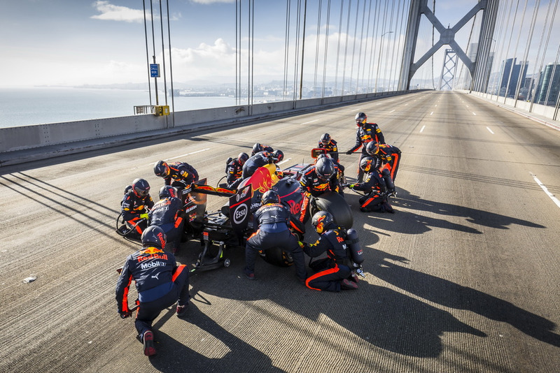 Daniel Ricciardo, Red Bull Racing, à San Francisco
