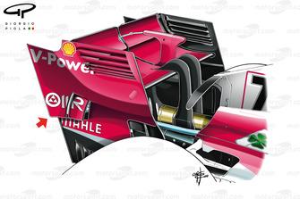 Ferrari SF71H rear wing, Singapore GP