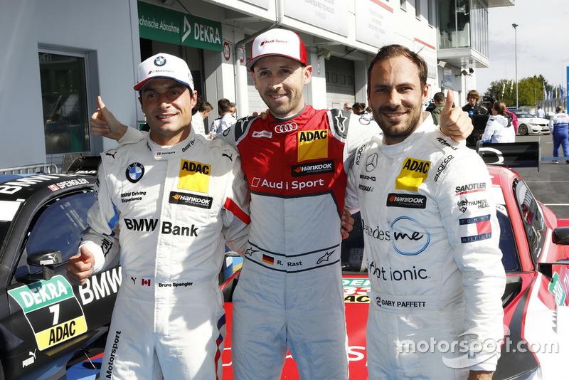 Pole position for René Rast, Audi Sport Team Rosberg, Bruno Spengler, BMW Team RBM, Gary Paffett, Mercedes-AMG Team HWA