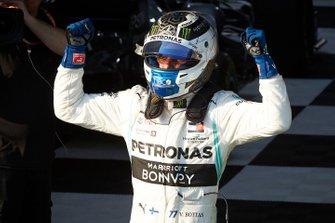 Valtteri Bottas, Mercedes AMG F1, 1st position, celebrates in Parc Ferme