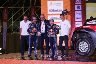Podium : X-Raid Mini JCW Team: Cyril Despres, Jean-Paul Cottret