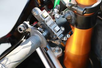 Le guidon de la Monster Yamaha Tech 3