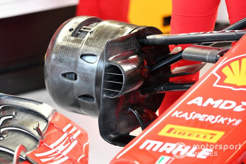 Передние тормоза и ступица колеса Ferrari SF71H