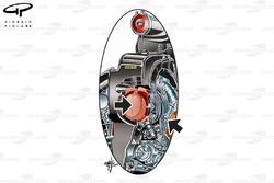 Mercedes W08 compressor detailed