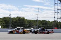 Kyle Busch, Kyle Busch Motorsports Toyota, Ryan Truex, Hattori Racing Enterprises Toyota, Ben Rhodes, ThorSport Racing Toyota