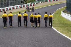 Jolyon Palmer, Renault Sport F1 Team lors de la reconnaissance de piste