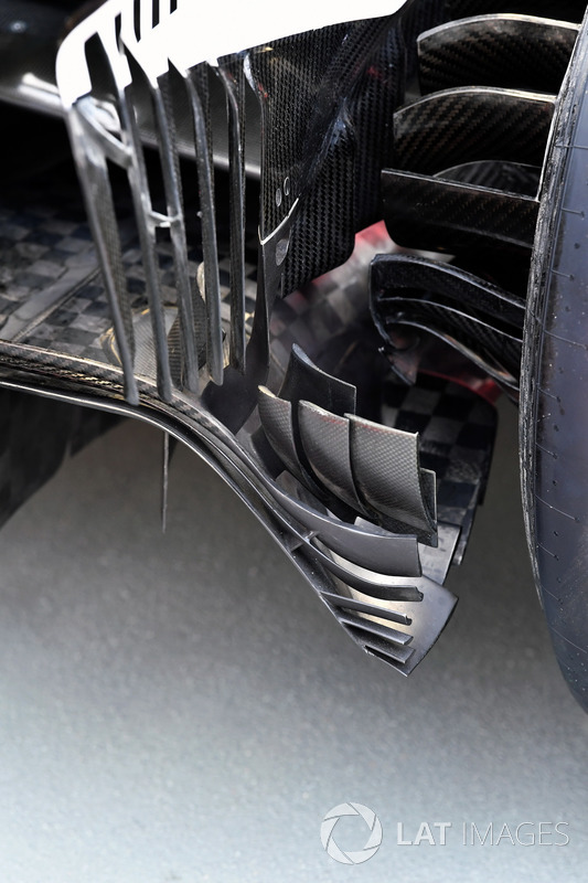 Ferrari SF70H rear brake duct detail