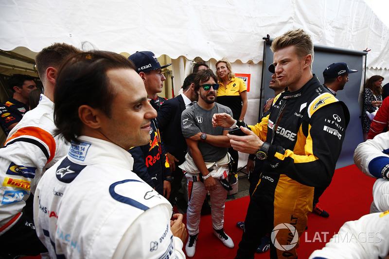 Felipe Massa, Williams, Stoffel Vandoorne, McLaren, Nico Hulkenberg, Renault Sport F1 Team