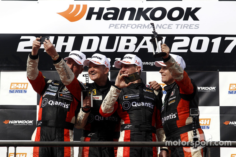 Podium: SP2 Winner #207 Bovi Motorsport Hungary Brokernet Silver Sting: Wolfgang Kaufmann, Kalman Bodis, Jaap van Lagen, Heino Bo Frederiksen