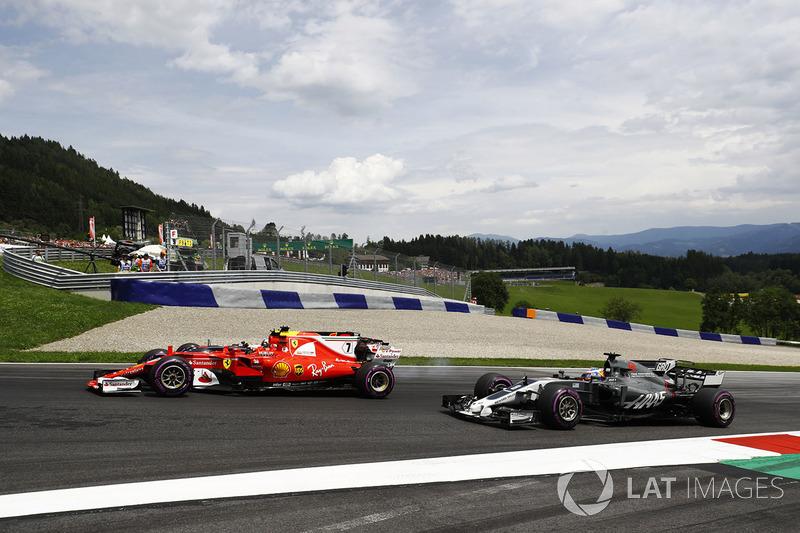 Кімі Райкконен, Ferrari SF70H, Даніель Ріккардо, Red Bull Racing RB13, Ромен Грожан, Haas F1 Team VF