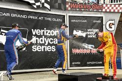 Scott Dixon, Chip Ganassi Racing Honda, Alexander Rossi, Curb Herta - Andretti Autosport Honda and R
