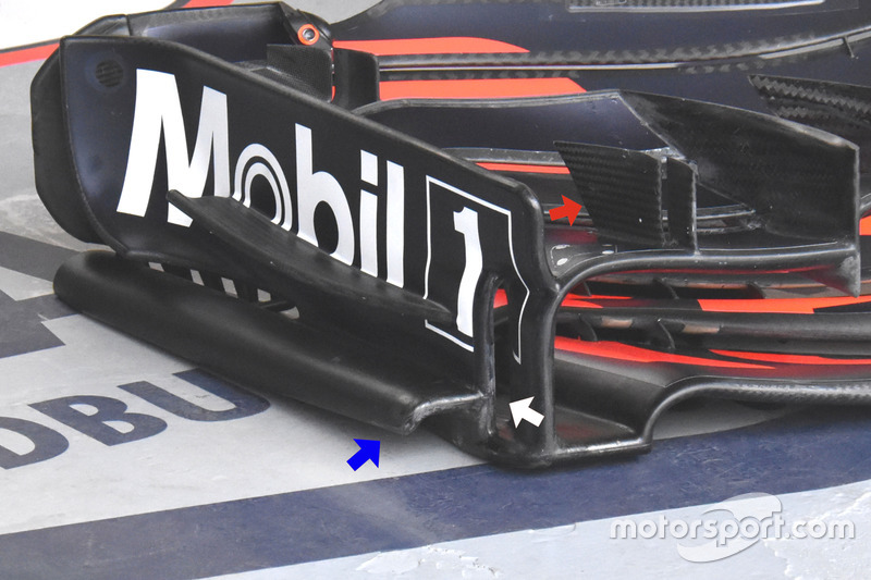 Red Bull Racing RB13, front wing detail
