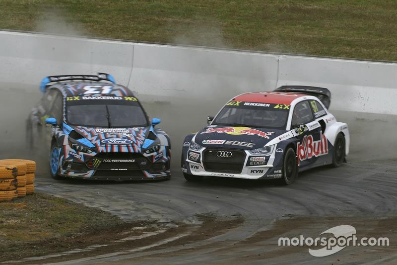 Andreas Bakkerud, Hoonigan Racing Division, Ford Focus RSRX, Toomas Heikkinen, EKS, Audi S1 EKS RX Q