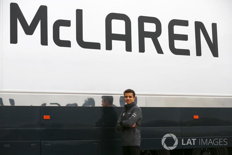 Piloto junior de  McLaren Lando Norris