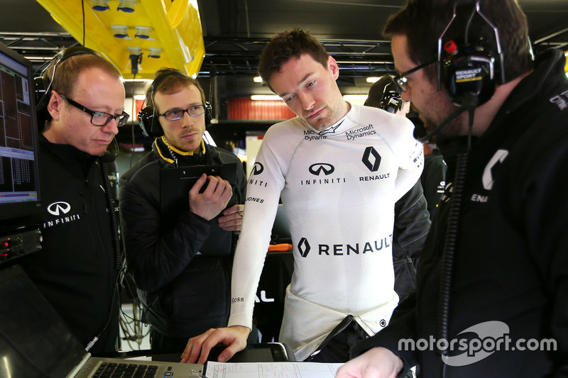 Mark Slade, Renault Sport F1 Team, Jolyon Palmer, Renault Sport F1 Team and Julien Simon-Chautemps, Renault Sport F1 Team