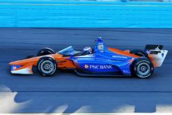 Scott Dixon, Chip Ganassi Racing Honda, teste le pare-brise