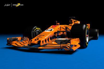 McLaren Renault concept livery