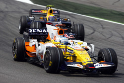Fernando Alonso, Renault F1 Team R28, leads David Coulthard, Red Bull Racing RB4