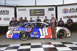 Kyle Busch, Joe Gibbs Racing Toyota, Wins the pole at Atlanta