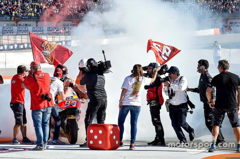 Campeón del mundo Marc Márquez, Repsol Honda Team celebra