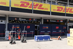 Red Bull Racing garage and screens