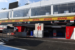 Sauber garage and freight