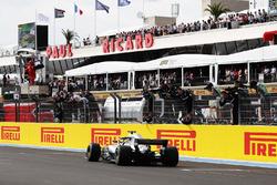 Lewis Hamilton, Mercedes AMG F1, takes the win