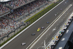 Single-File-Racing in Indianapolis
