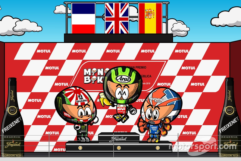 El podio del GP de Argentina de MotoGP 2018, por MiniBikers