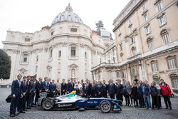 Group photo with Pope Francis, Alejandro Agag, CEO, Formula E