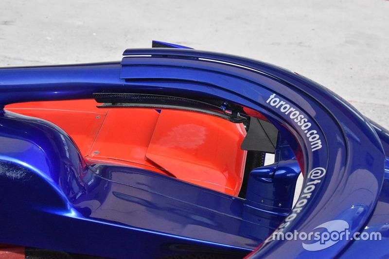 Detalle del Halo del Scuderia Toro Rosso STR13
