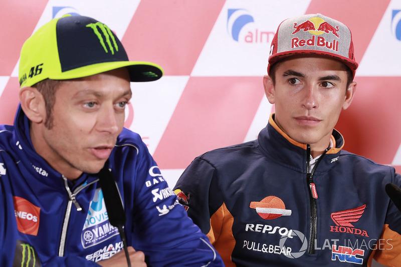 Marc Marquez, Repsol Honda Team, Valentino Rossi, Yamaha Factory Racing