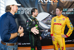 Race of Champions President Fredrik Johnsson, Kurt Busch and Ryan Hunter-Reay