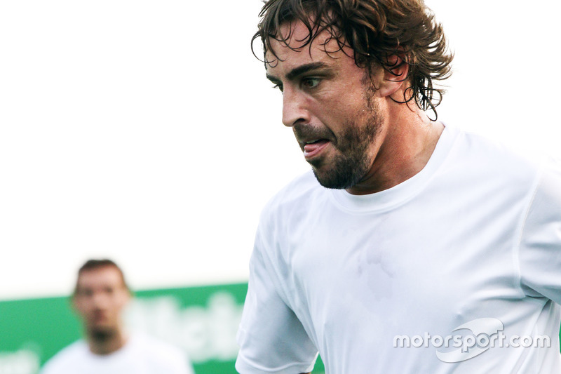 Fernando Alonso, McLaren at the charity 5-a-side football match