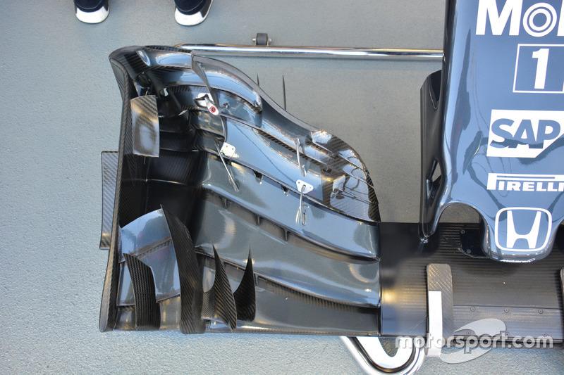 تفاصيل الجناح الأمامي لسيارة مكلارين إم.بي4-31
