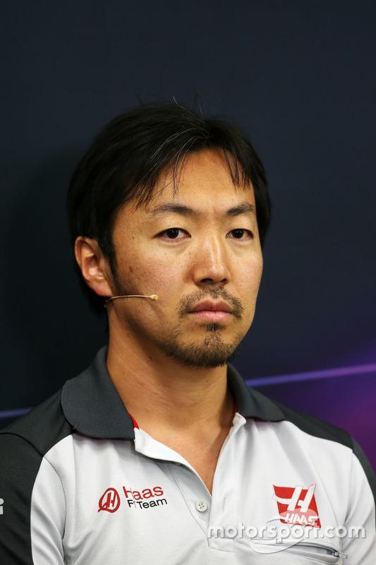 Ayao Komatsu, Haas F1 Team Race Engineer in the FIA Press Conference