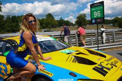 Grid girl of #96 Turner Motorsport BMW M6 GT3: Bret Curtis, Jens Klingmann