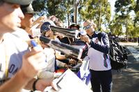 Robert Kubica, Williams Martini Racing, signs an autograph
