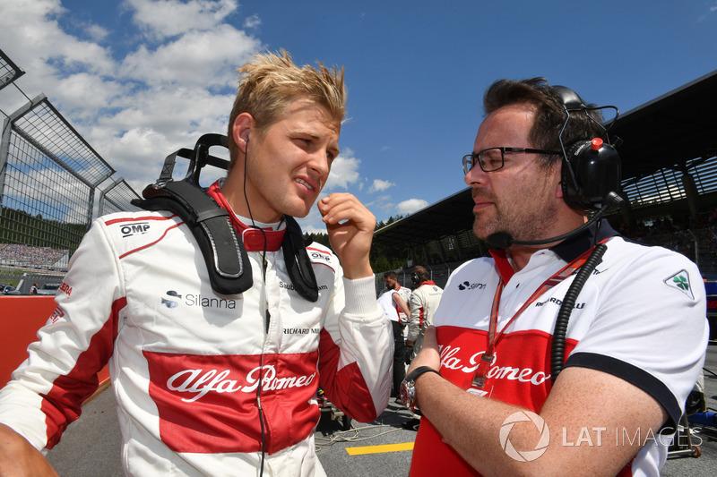 Marcus Ericsson, Sauber et Charles Leclerc, Sauber sur la grille