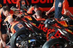 Red Bull KTM Factory Racing garage atmosphere