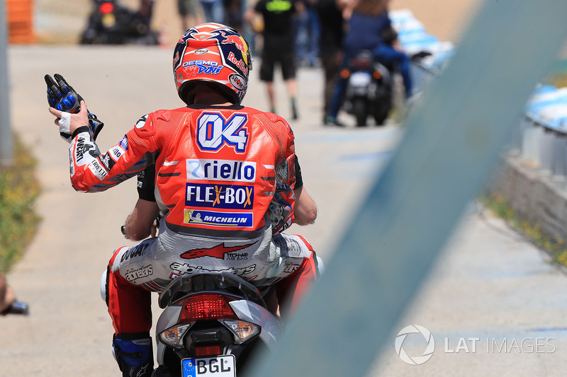 Andrea Dovizioso, Ducati Team, after crash